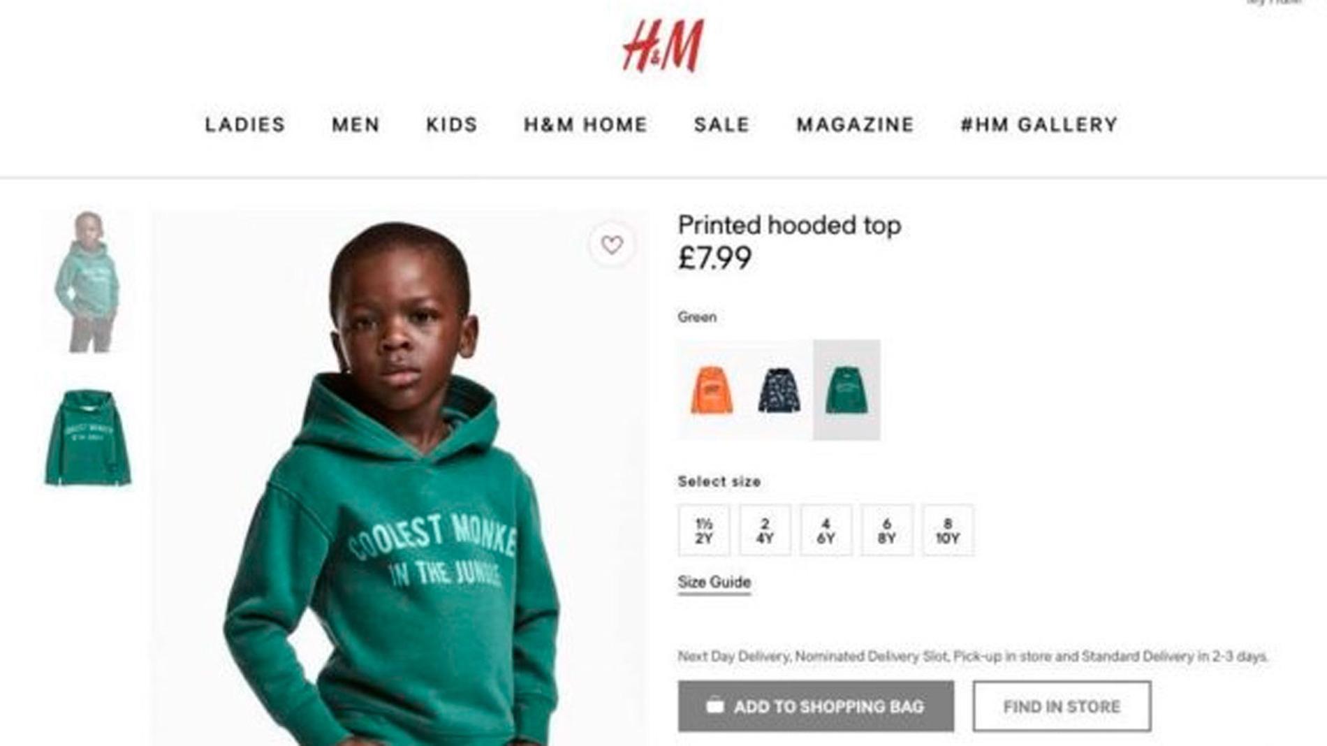 H&M CLAUSURA TIENDAS EN SUDÁFRICA POR EL ESCÁNDALO RACISTA DE SU CATÁLOGO