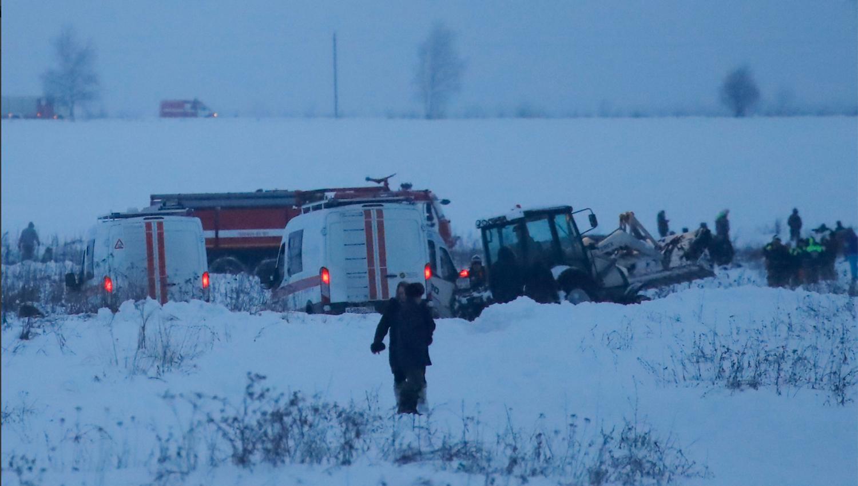 71 PERSONAS MUEREN EN UN ACCIDENTE AÉREO EN MOSCÚ